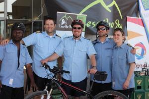 From left to right:  Thoahlane Khalala, Bryan Eygabroad, Kevin Borror, Justin & Amanda Honaker. Photo by Mari Eygabroad.