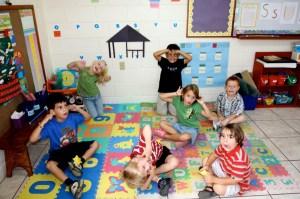 Kindergarten class at Nate Saint Memorial School, 2010.  Photo by Chad Irwin.