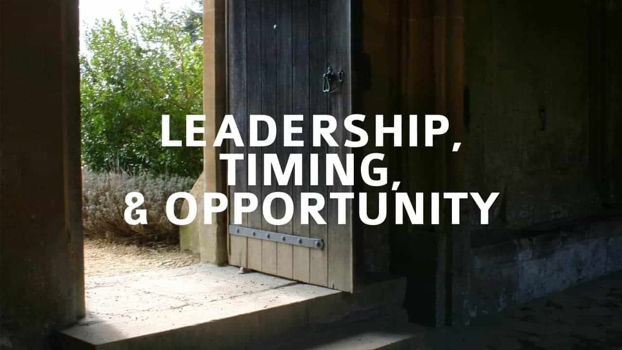 Image result for timing and leadership