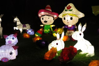 Mid-Autumn Festival Lanterns in Victoria Park, Hong Kong
