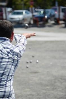The Seattle Pétanque Club members were soooo good at throwing.