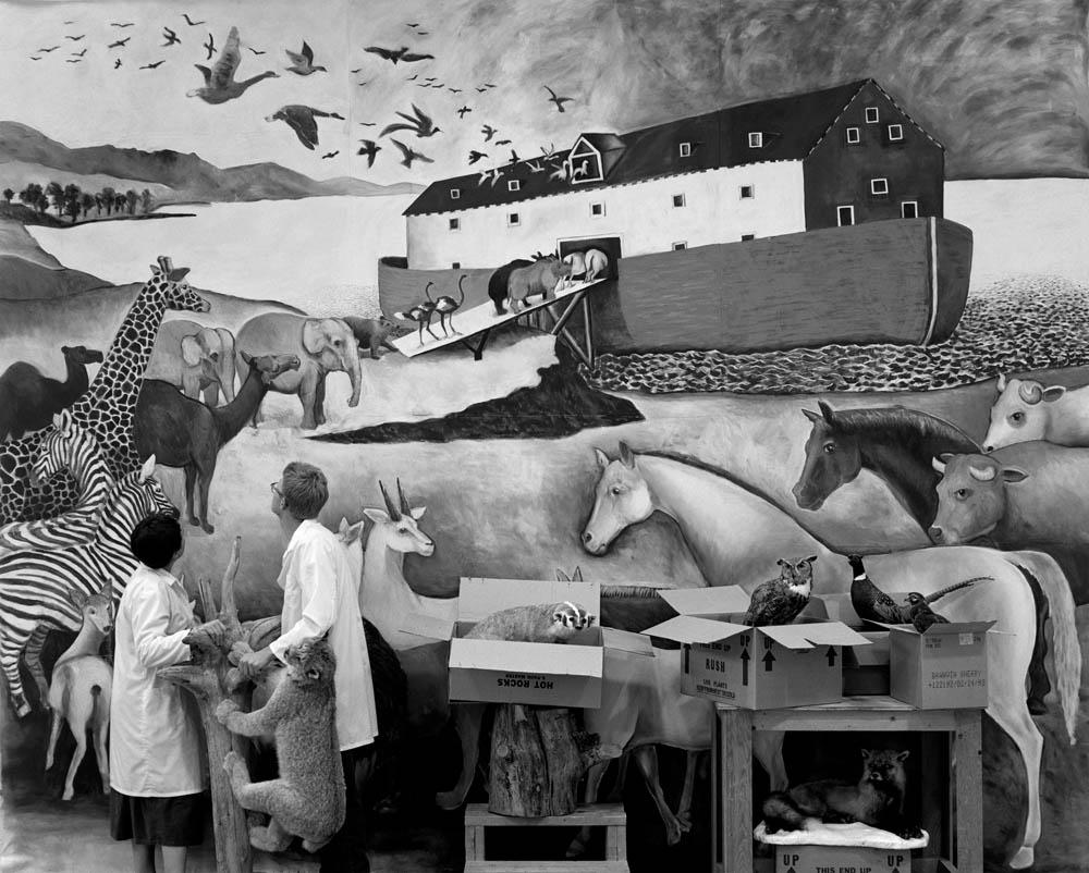 Installation detail, Noah's Ark, unpacking.
