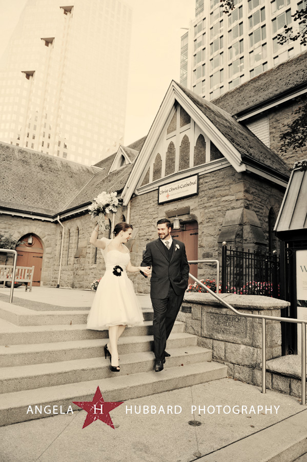 Christ Church Cathedral Vancouver wedding photographer Angela Hubbard Photography