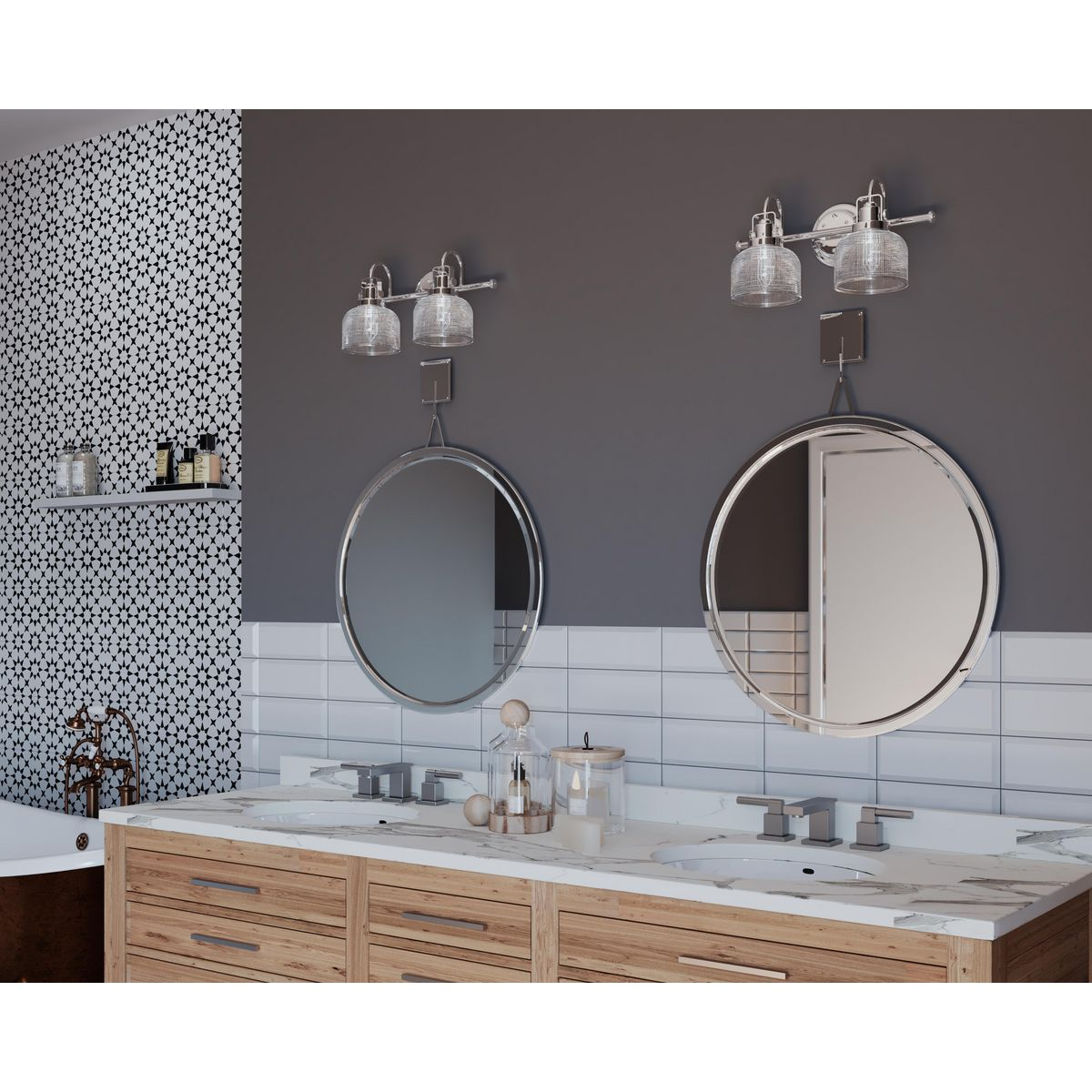 archie collection two light polished