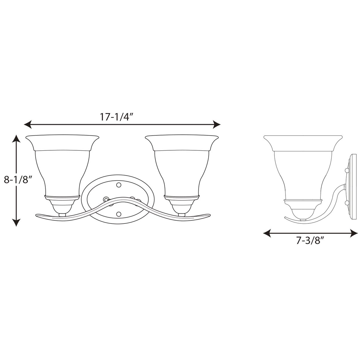 Trinity Collection Two Light Fluorescent Bath Amp Vanity