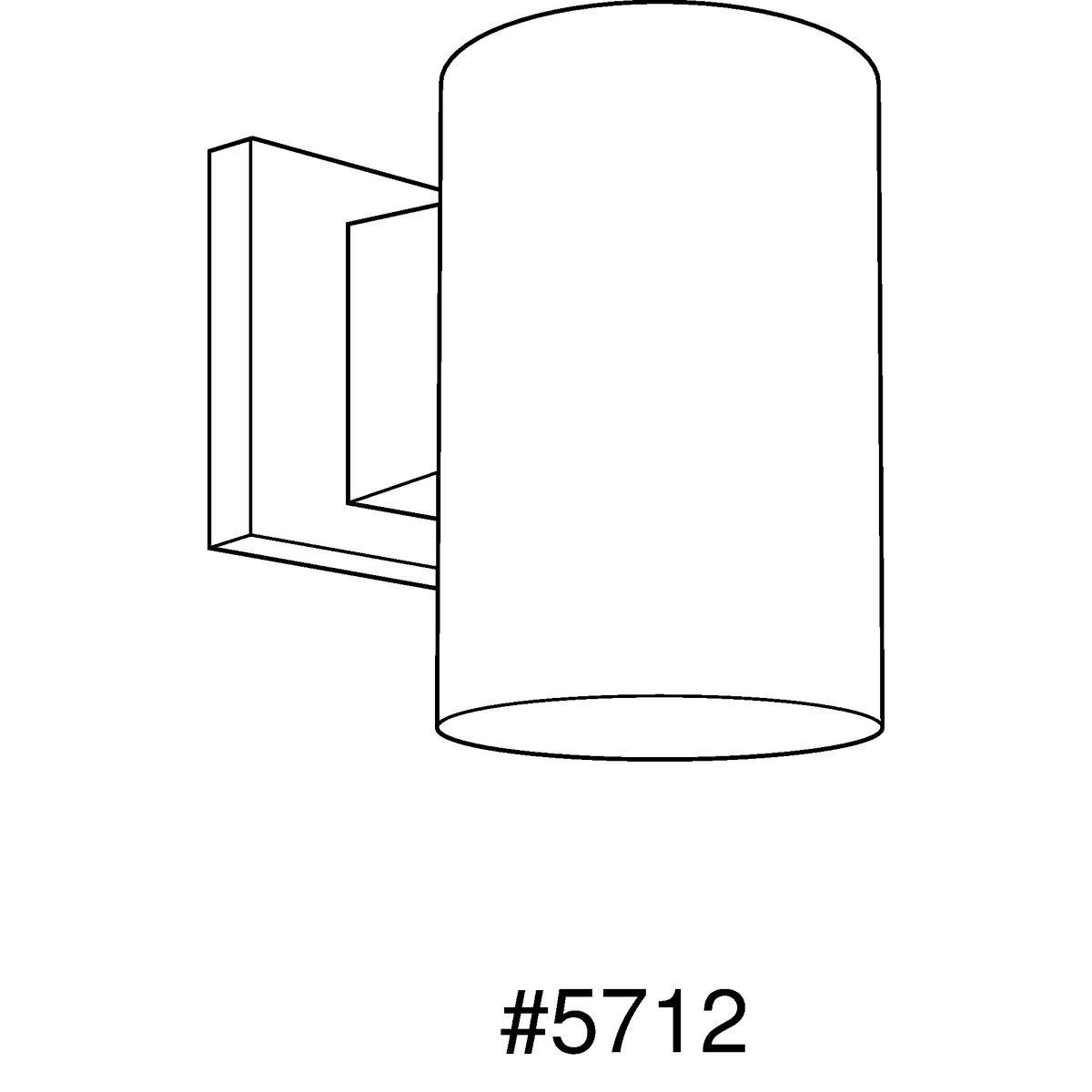5 Non Metallic Downlight Wall Cylinder