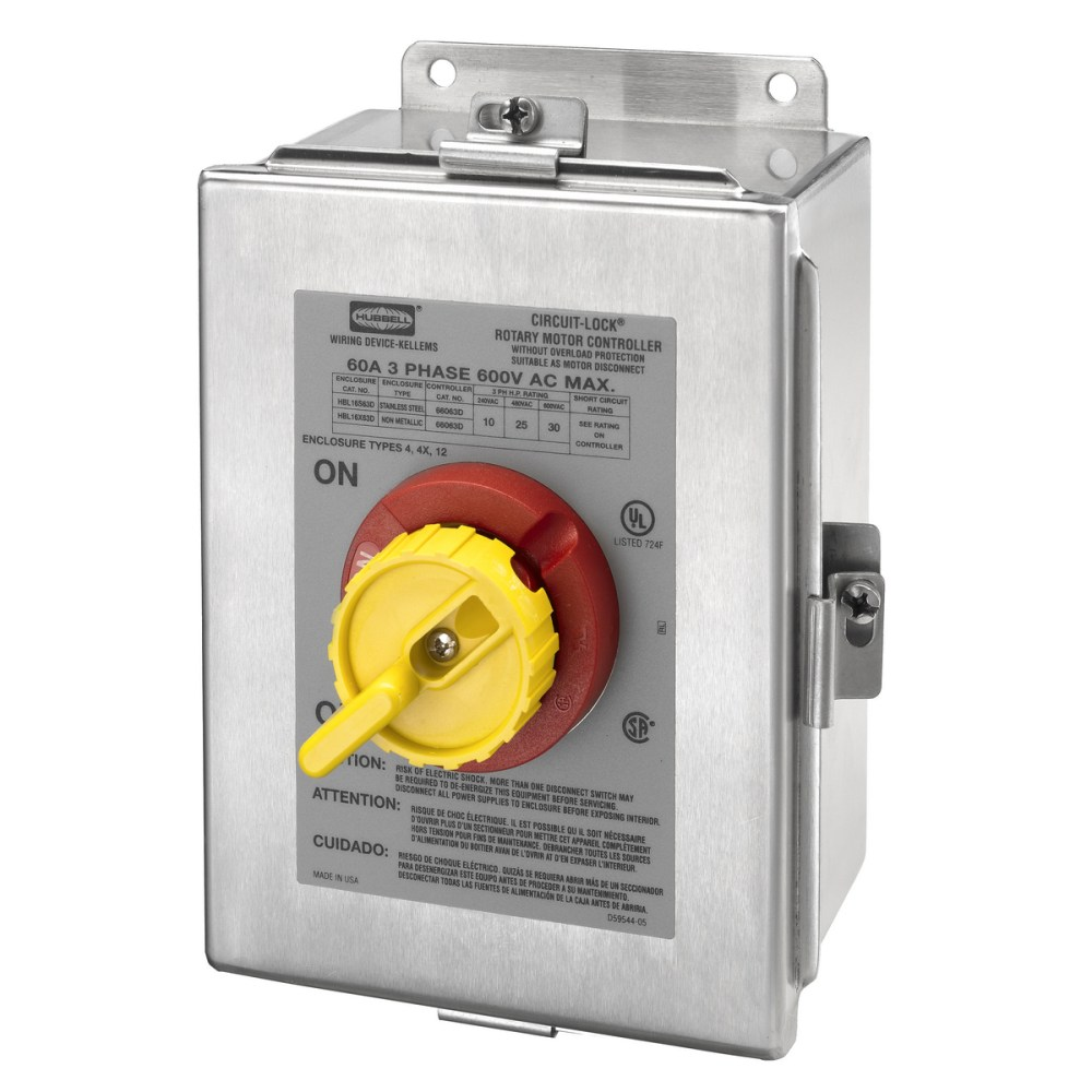 medium resolution of hubbell hbl16s63d switches and lighting controls industrial grade switchedenclosures motor disconnects three