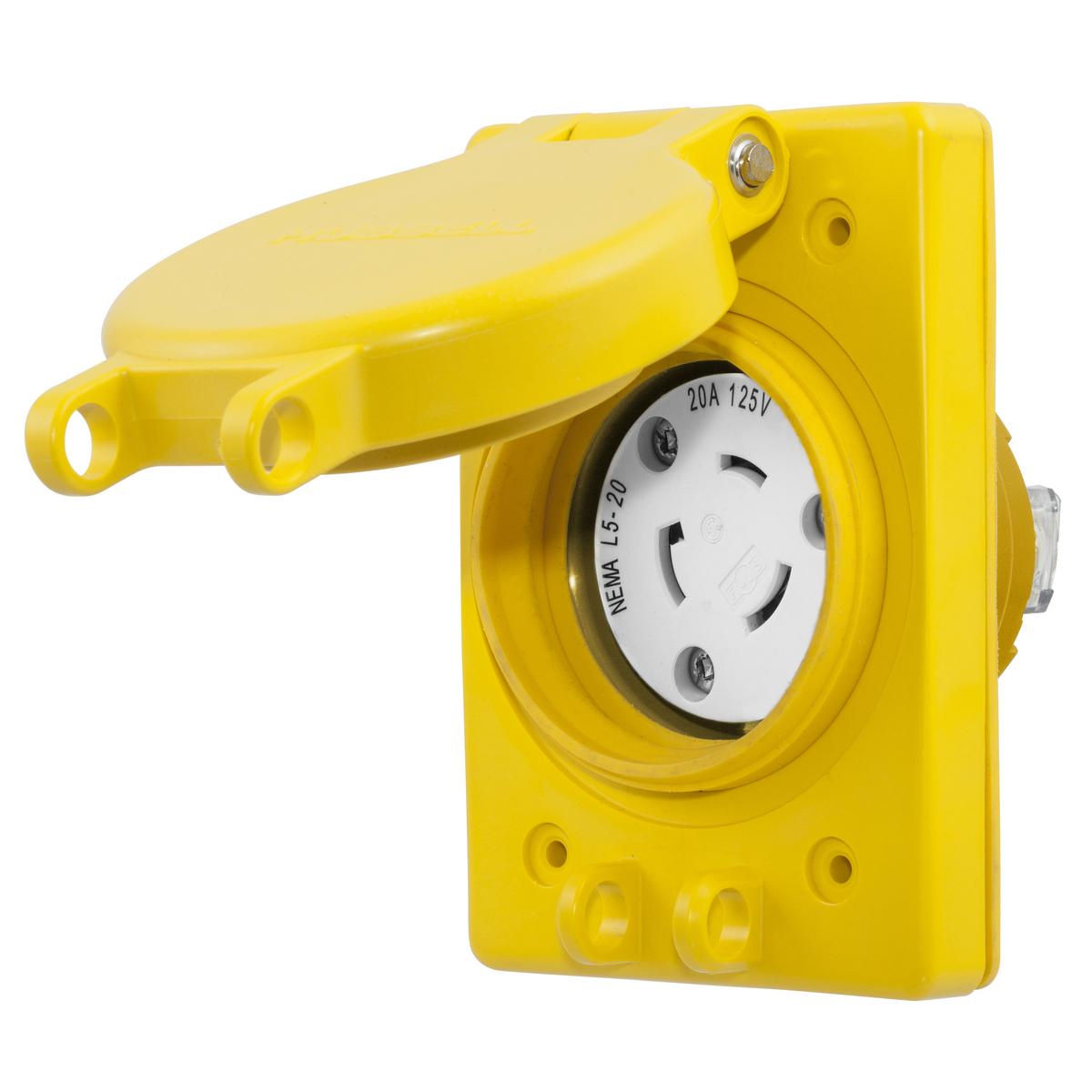hight resolution of hubhbl67w47 watertight recep assy nema l5 20r hbl67w47 hubbell