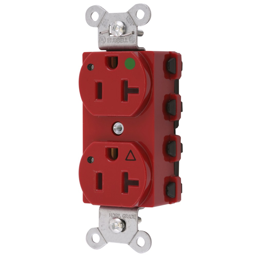 medium resolution of wiring device kellems snapconnect straight blade receptacle duplex extra heavy duty isolated ground