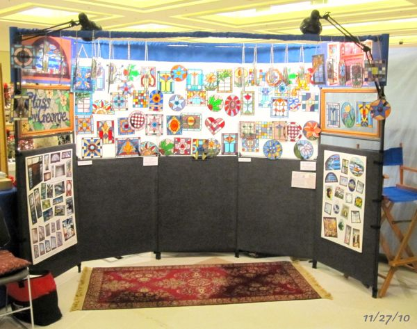Stained Glass Display Of