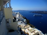 View from Fira, Santorini.