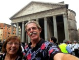 At the Pantheon in Rome.