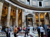 Staggeringly beautiful interior of the Pantheon.