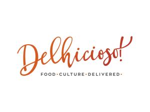 Delhicioso logo foodie logo