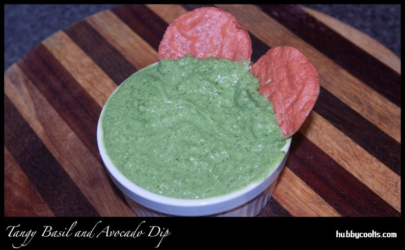 Tangy Avocado and Basil Dip (Gluten-Free)