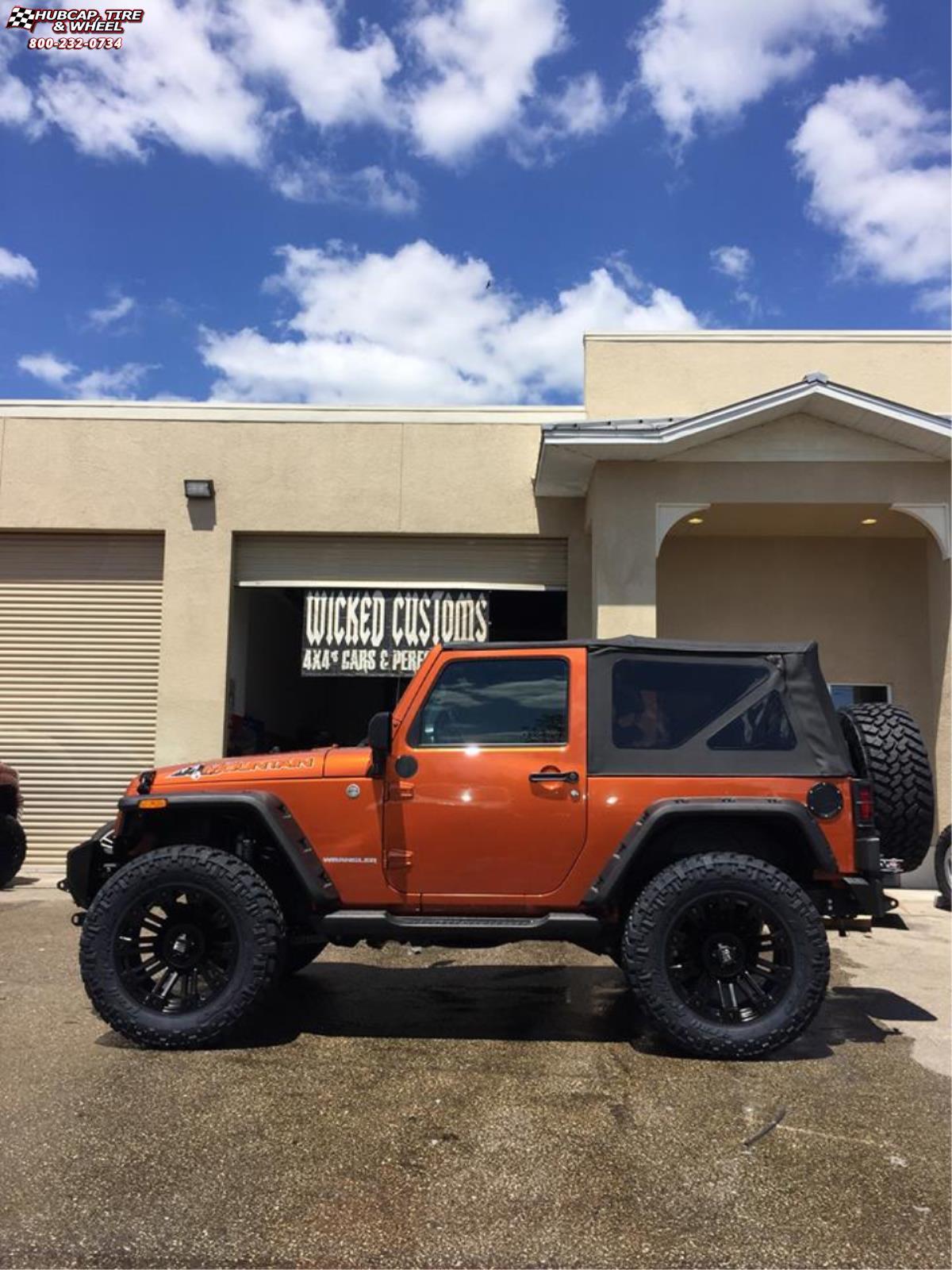 Xd Jeep Wheels : wheels, Wrangler, Series, XD810, Brigade, Wheels, Black