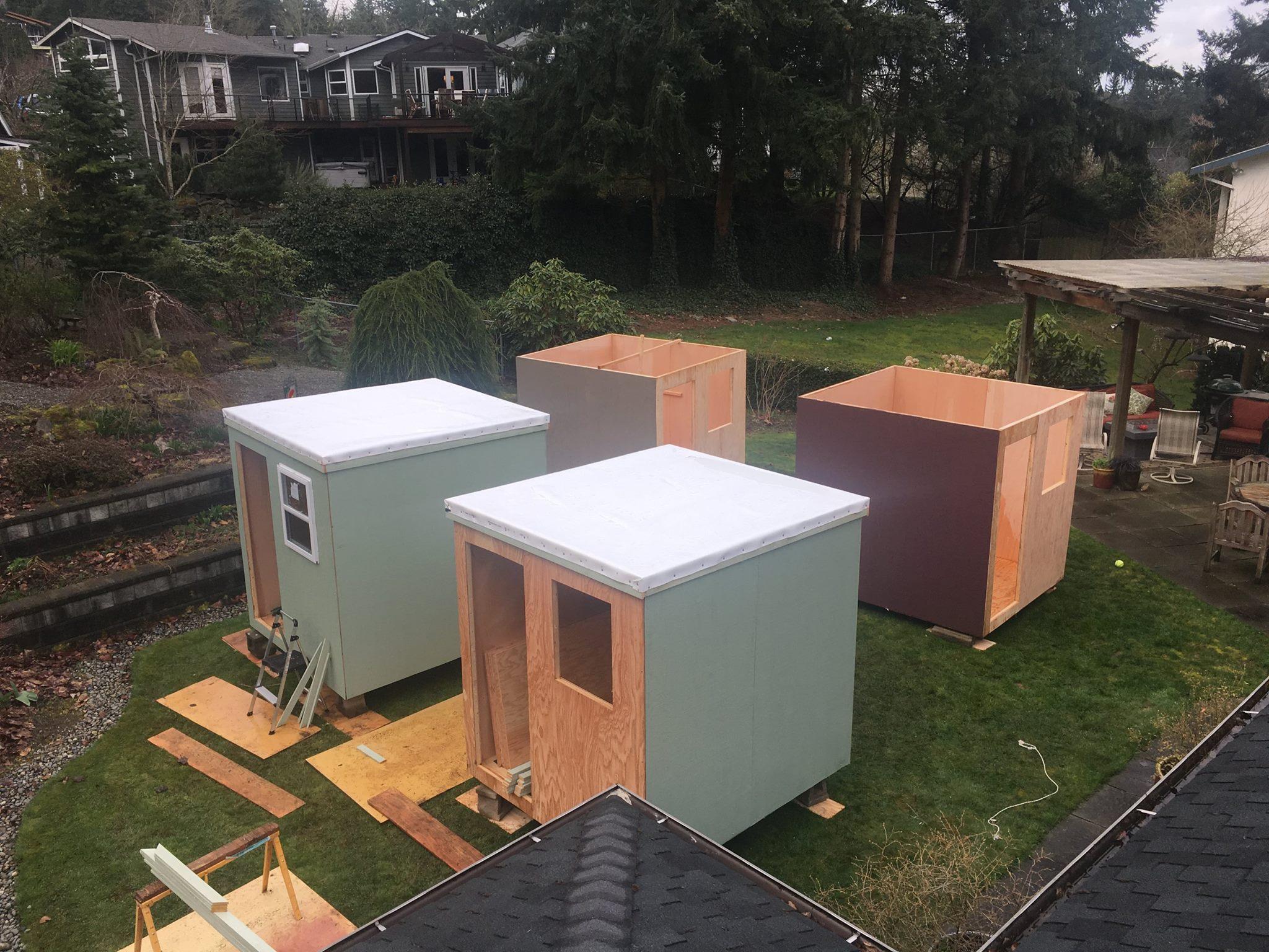 Pods For The Homeless Shelter : Huber s custom building sleeping pods for the homeless