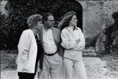 Dr. Hubert Burda mit Mutter Aenne Burda und Ehefrau Maria Furtwängler