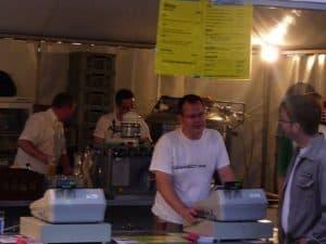 Ich an der Kasse beim Festival der Kulturen 2010