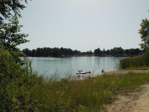 Bild von dem Baggersee, wo ich den Sonntag verbracht habe