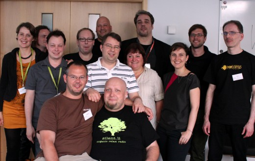 Gruppenfoto bei der Gründung der Iron Blogger Stuttgart auf dem Barcamp Stuttgart 2012