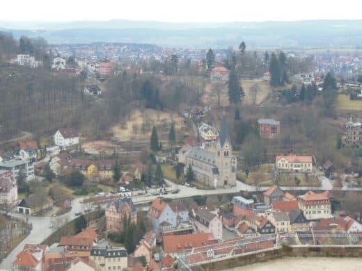 Bild vom Ausblick auf Kulmbach mit Zoom