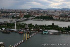 Wien - Blick von der Uno City über Donau / Neue Donau