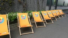 Sommer in Aschaffenburg Liegestühle