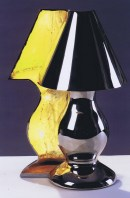 Lampe géode p.m nickel