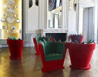 Fauteuils pot de fleurs