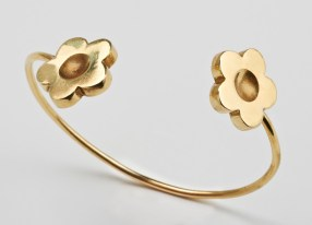 Bracelet 2 marguerites or