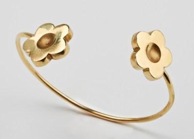 Bracelet 2 marguerites or
