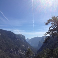 View on Half Dome and El Capitan.