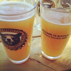 A brew at altitude.