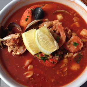 Yummy cioppino - the portion size was only a little too big for me...