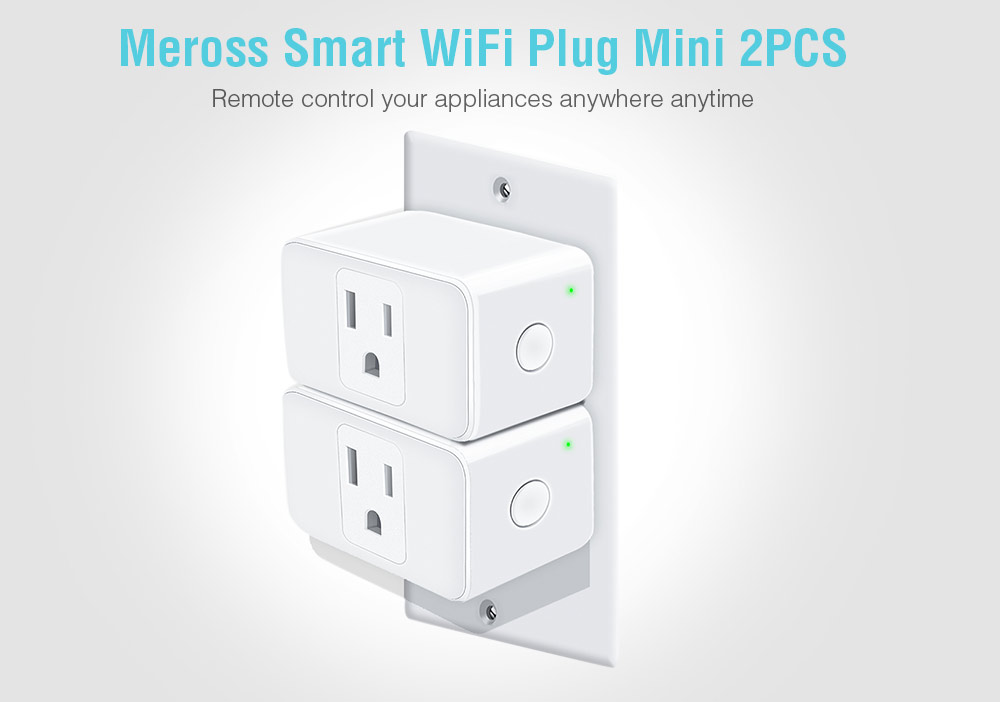Meross Mini Smart WiFi Plug 15A, Compatible with Amazon