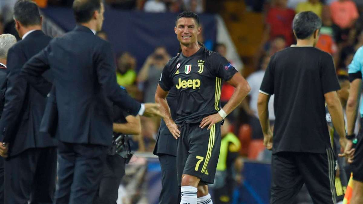 Cristiano Ronaldo: Twitter reacts as Juventus star gets red card on Champions League debut