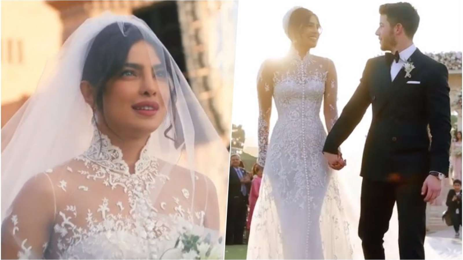 custom floral priyanka chopra wedding veil