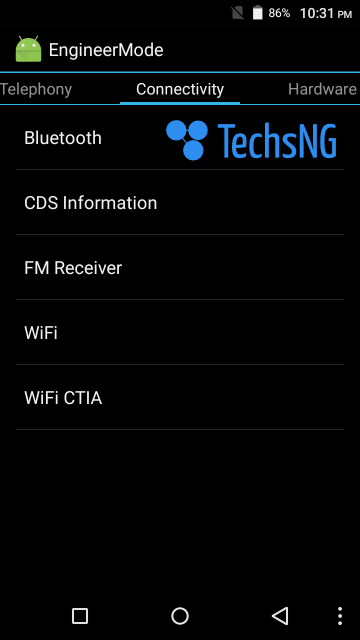 connectivity option on mobileuncle mtk tools app