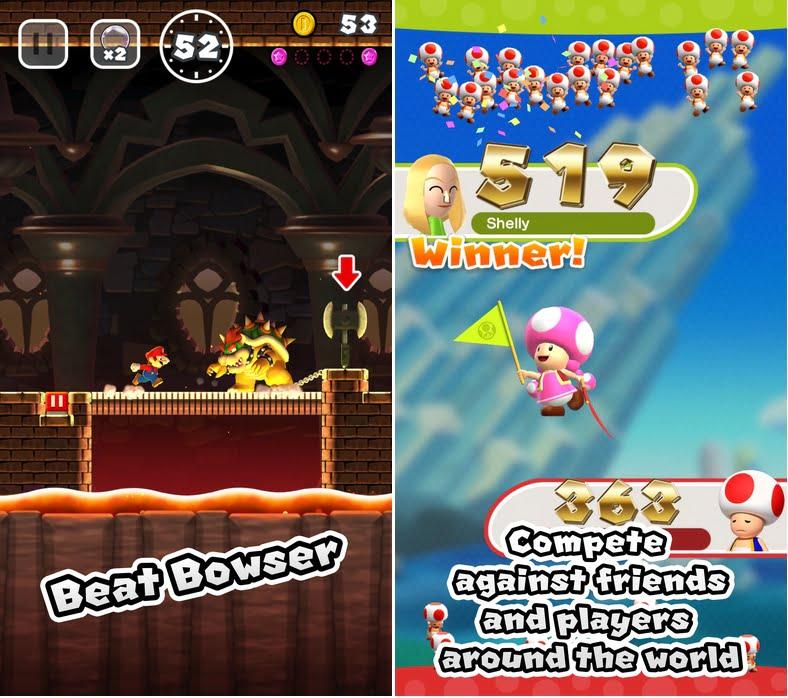 Super mario run browser challenge