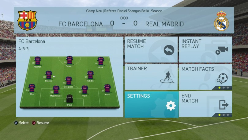 FIFA 16 Kick Off (In Menus) On PlayStation 4