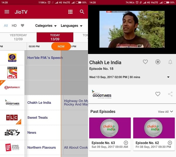 JioTV IPTV app