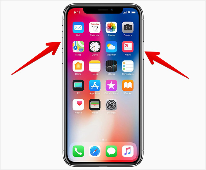 take screenshots on iPhone X, XS, XS Max and XR