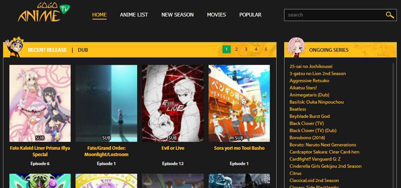 Gogoanime site to watch anime movies and shows