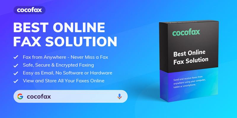CocoFax best online fax solution