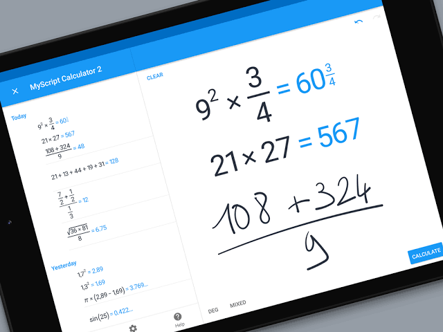 MyScript Calculator 2 handwriting apps