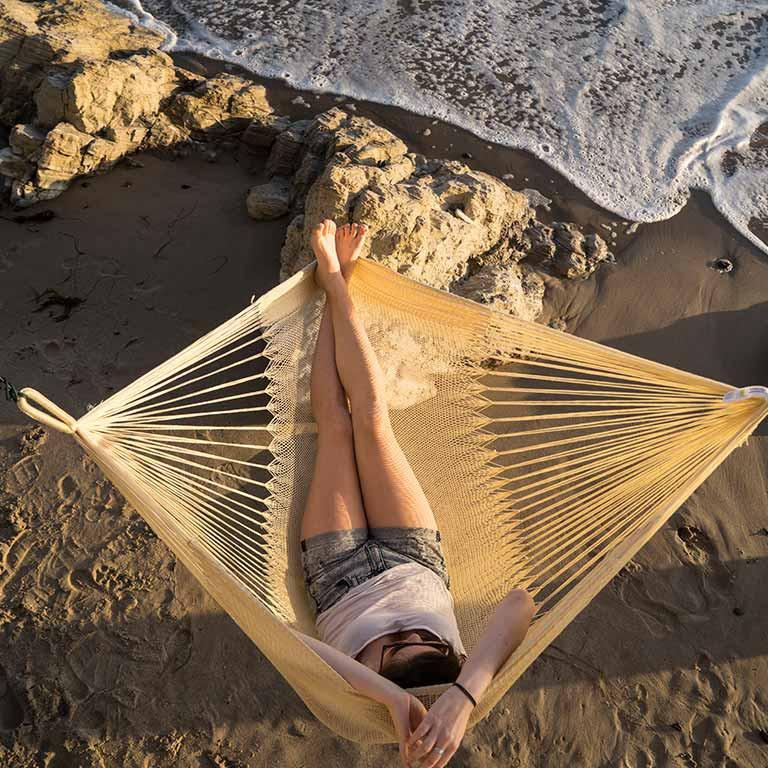 hanging chair big w wicker yellow leaf hammocks sur weatherproof huckberry