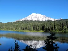 """""""The Mountain"""" in Reflection Lake, at Paradise"""