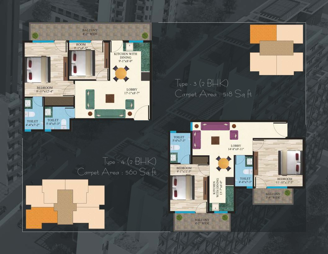 Maxworth Affordable Sector 89 Floor Plan2 Huda
