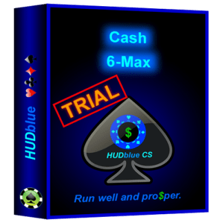 HUDblue CSca (Coaching Version), 6-Max HUD - Trial - box illustration.
